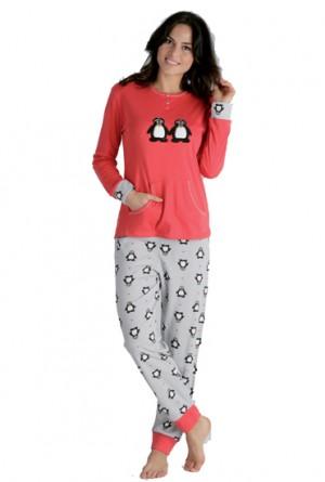 Pijama pingüinos con gorro pettrus
