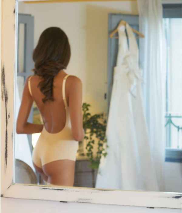 Body escotado para vestidos espalda descubierta Second Skin Evelyn